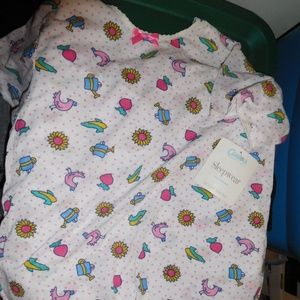 NWT girls size 14 carters sleep top made in usa